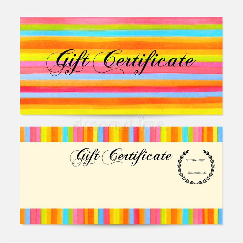 Gift Certificate, Voucher, Coupon, Gift Money Bonus, Gift Card - money coupon template