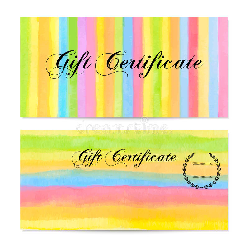 Gift Certificate, Voucher, Coupon, Money Bonus, Card Template With - money coupon template