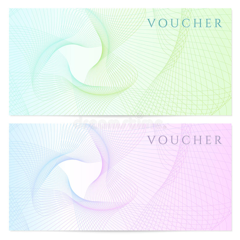 Gift Certificate, Voucher, Coupon Template Color Stock Vector - coupon template