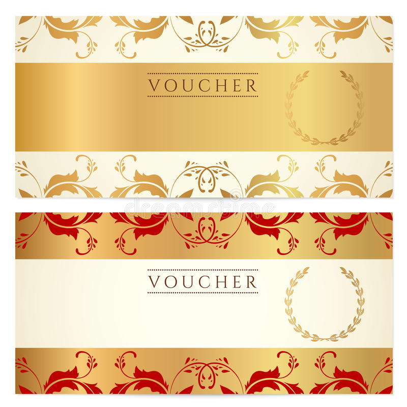 Gift Certificate (Voucher, Coupon) Template Stock Vector - coupon layouts
