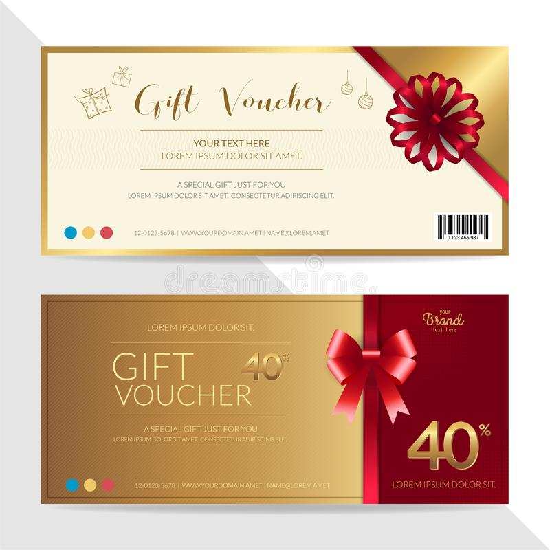 Gift Certificate, Voucher, Gift Card Or Cash Coupon Template In - gift coupon template