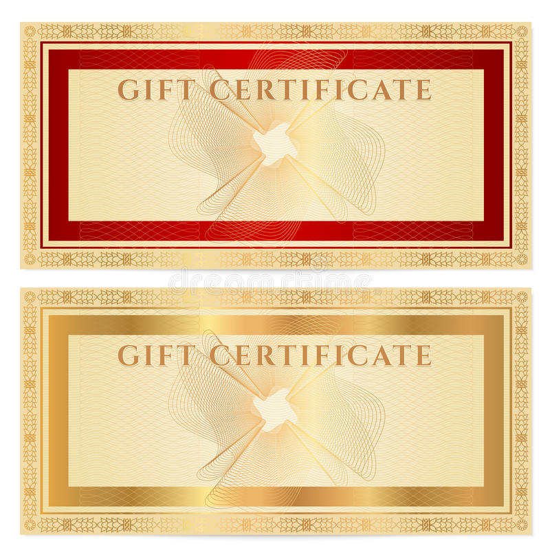 Gift Certificate (voucher) Template With Borders Royalty Free   Money  Voucher Template ... Gallery