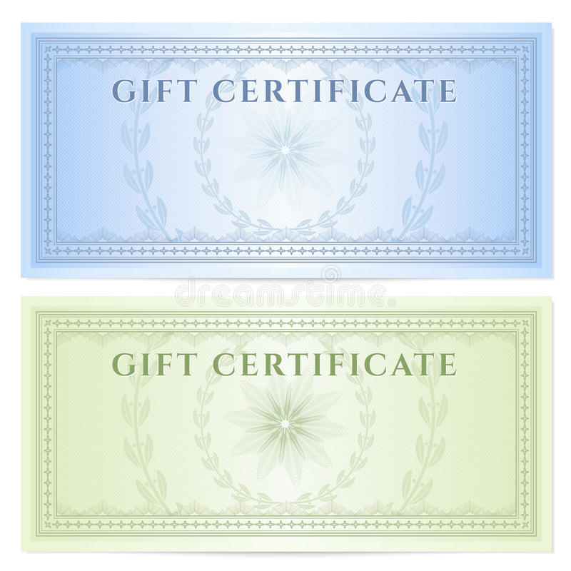 Gift Certificate (Voucher) Template With Pattern Royalty Free - money coupon template