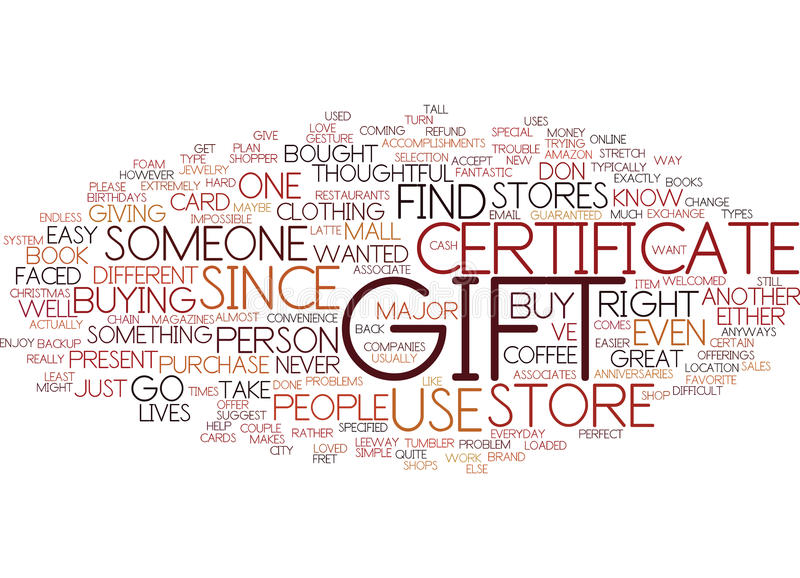 Gift Certificate Word Cloud Concept Stock Vector - Illustration of