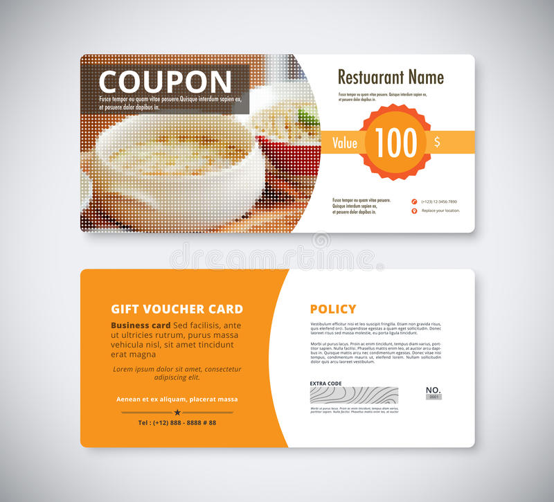 Gift Coupon Voucher Template For Restaurant Flyer Brochure Vect - coupon flyer