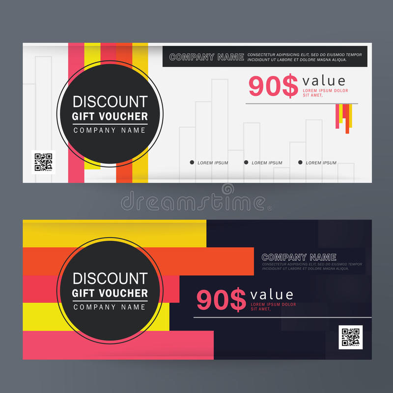 Gift Voucher Design Concept Colorful For Gift Coupon, Invitation