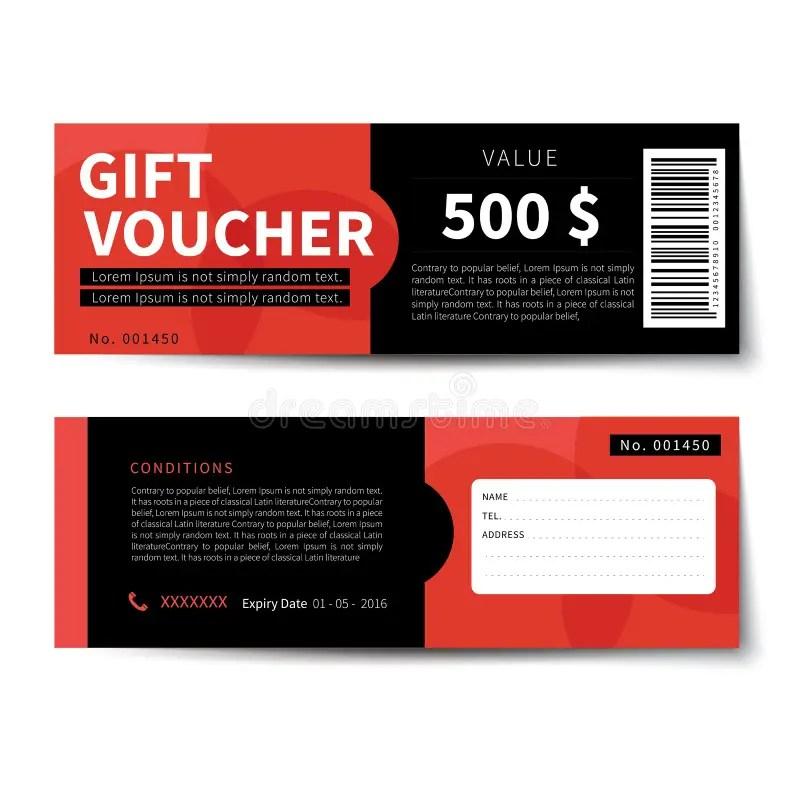 Gift Voucher Discount Template Design Stock Vector - Illustration of - discount voucher design
