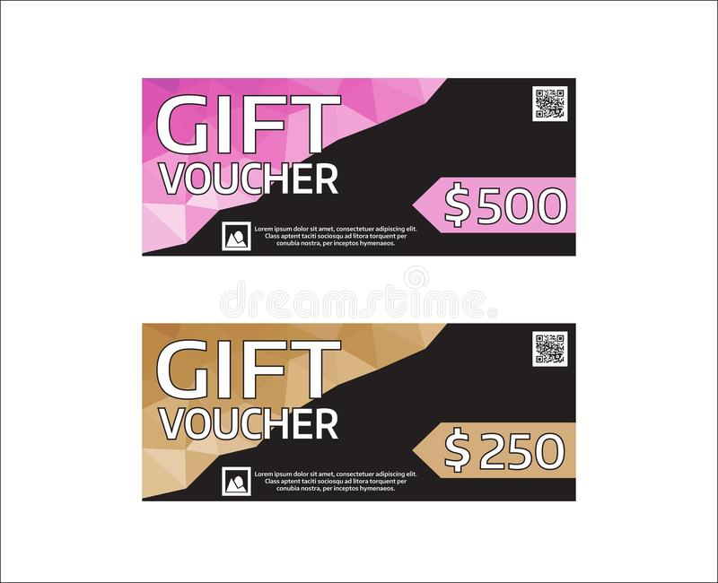 Gift Voucher Modern Design Template Vector Graphic Coupon With - money coupon template
