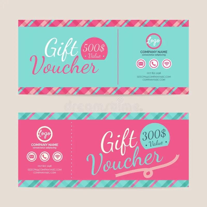 Gift voucher template stock vector Illustration of card - 62424650