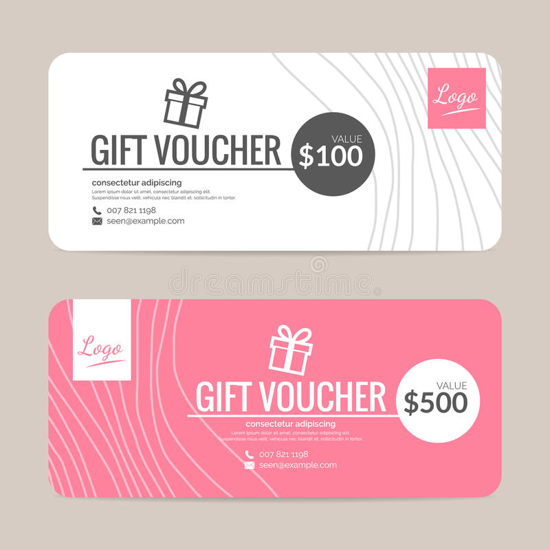 Gift voucher template stock vector Illustration of fashion - 62424653 - gift voucher template