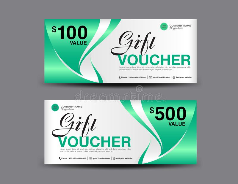 Gift Voucher Template Layout, Business Flyer Design, Green Coupon