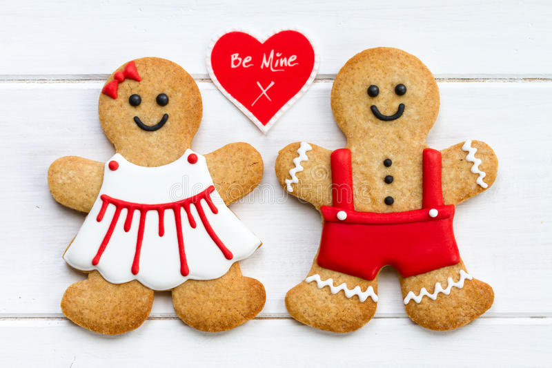 Cute Love Cartoon Couples Wallpapers Gingerbread Couple Stock Photo Image Of Love Baked