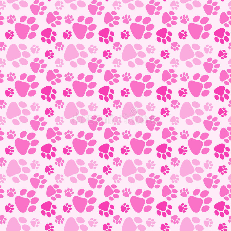 Cute Baby Girl Wallpapers Free Girl Dog Paw Prints Seamless Background Stock Illustration
