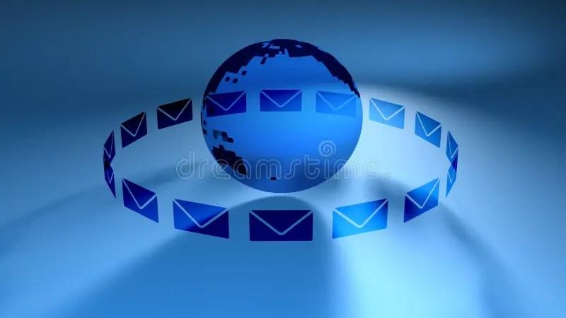 Global Mail Blue (HD Loop) stock video Illustration of envelope - mail background