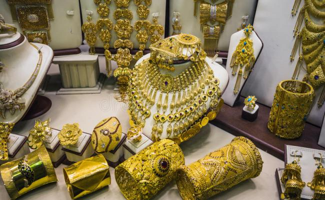 Gold Market In Duba Stock Image Image Of Exhibition 44961933