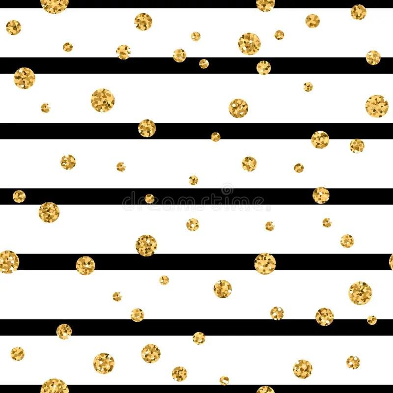 Black Dot Wallpaper Gold Polka Dot Confetti Seamless Pattern Stock Vector