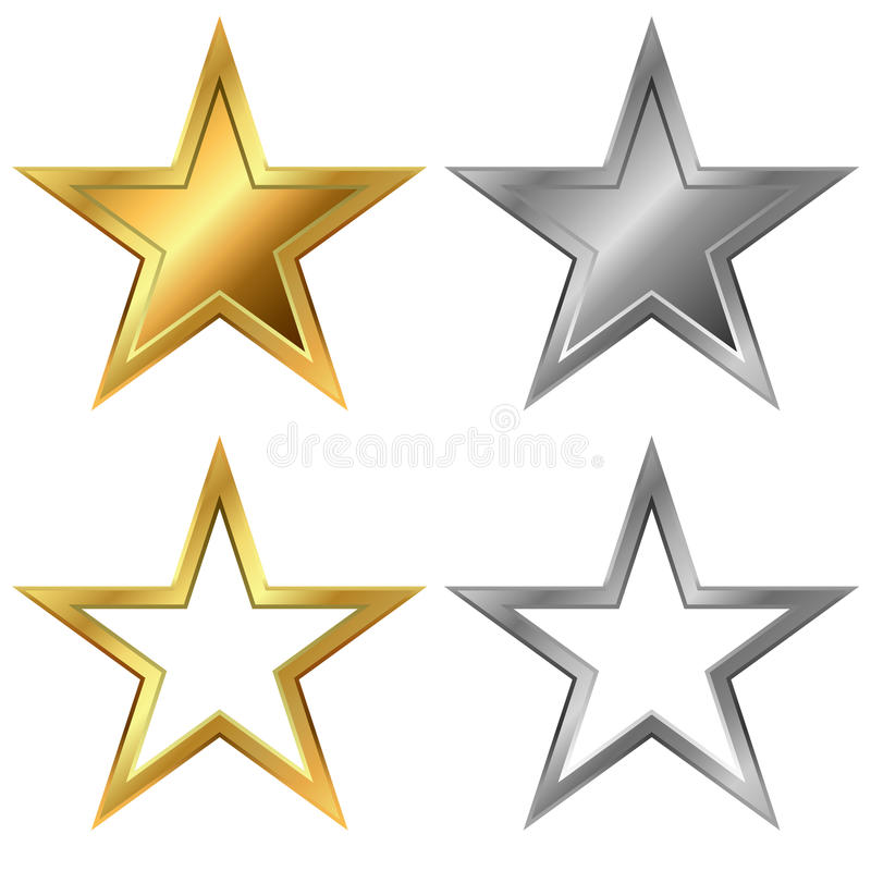 Gold and silver stars stock vector Illustration of award - 66789039