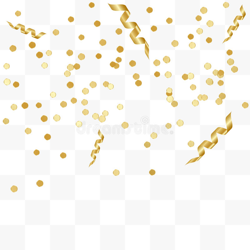 Falling Gold Sparkles Wallpaper Golden Confetti And Streamer Ribbons Falling On