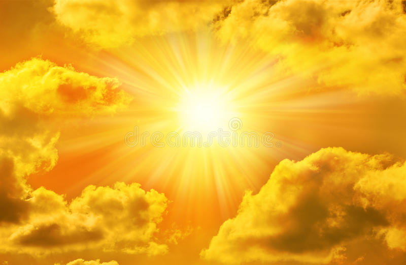 Wallpaper Abstrak 3d Golden Gold Sky Sun Sunny Clouds Stock Photo Image Of