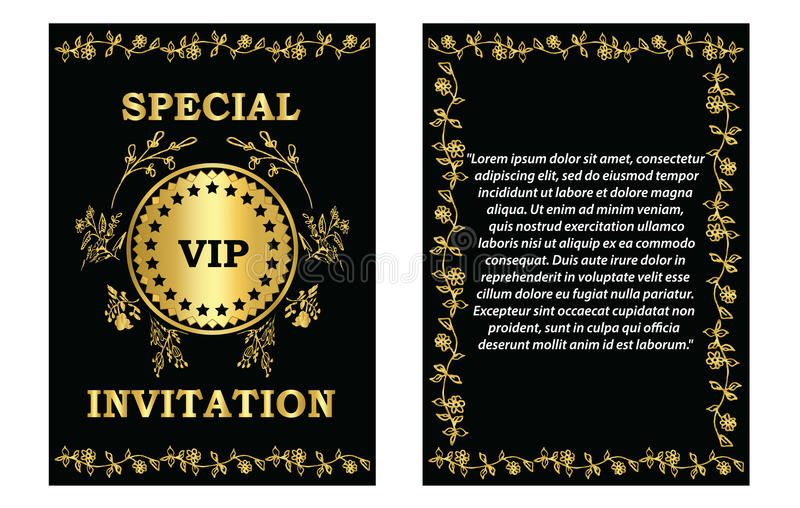 Golden VIP Invitation Template Stock Vector - Illustration of - Corporate Party Invitation Template