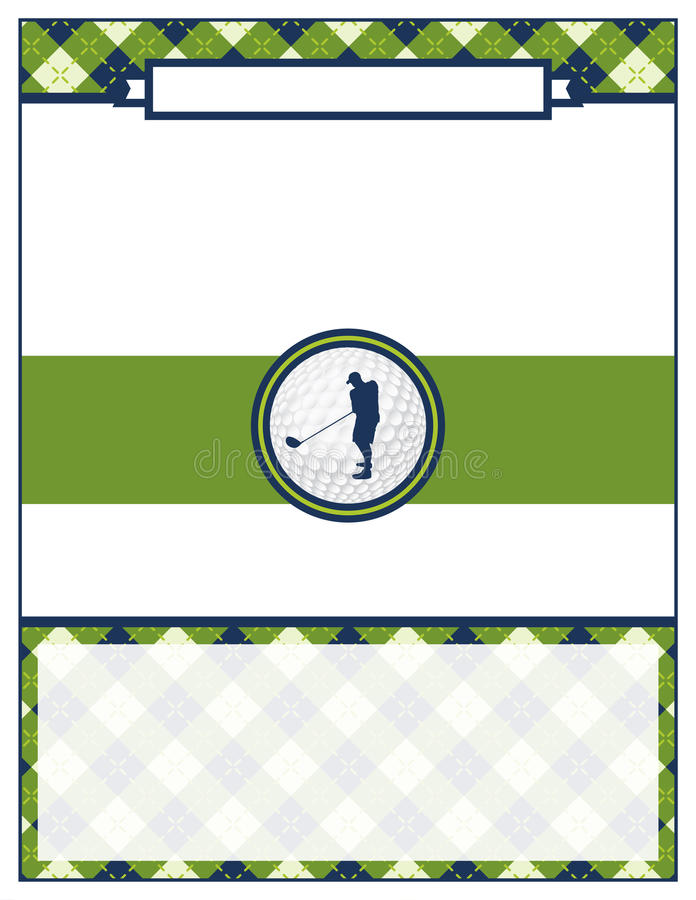 Golf Tournament Flyer Blank Template Stock Vector - Illustration of