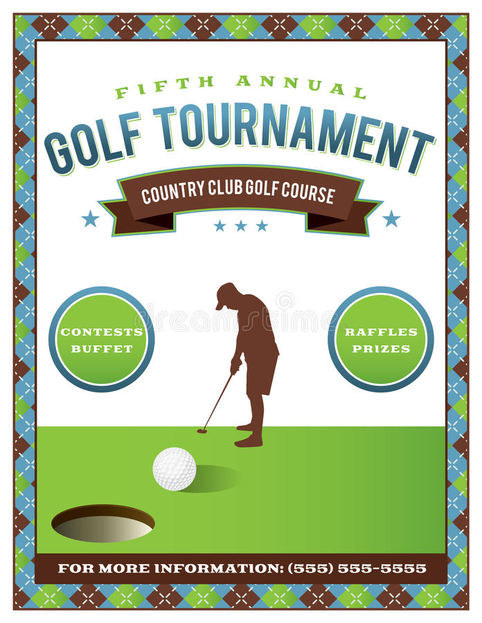 Golf Tournament Flyer Template Stock Vector - Illustration of event - golf tournament flyer template