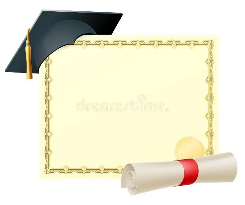 Graduate Certificate Background Stock Vector - Illustration of blank - graduation certificate