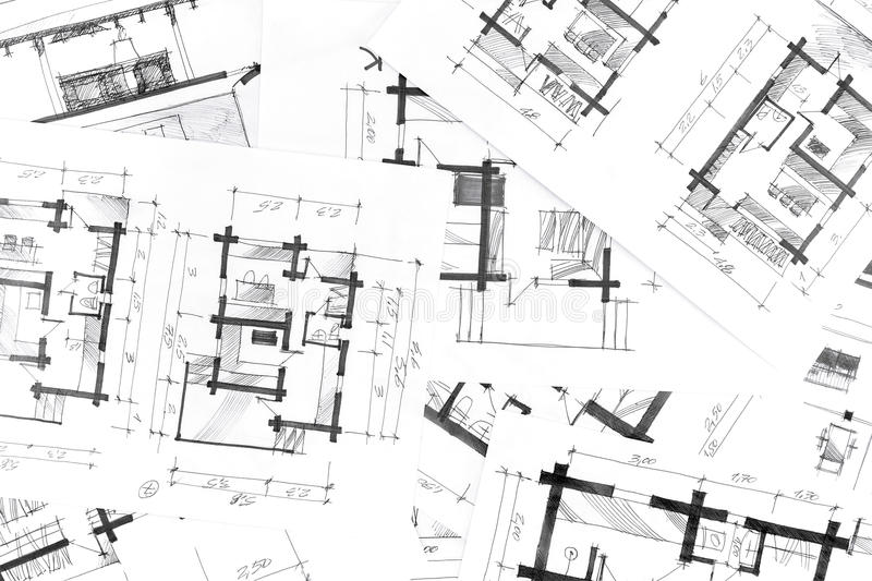 Graphical Sketches By Pen Architectural Background Stock - background sketches