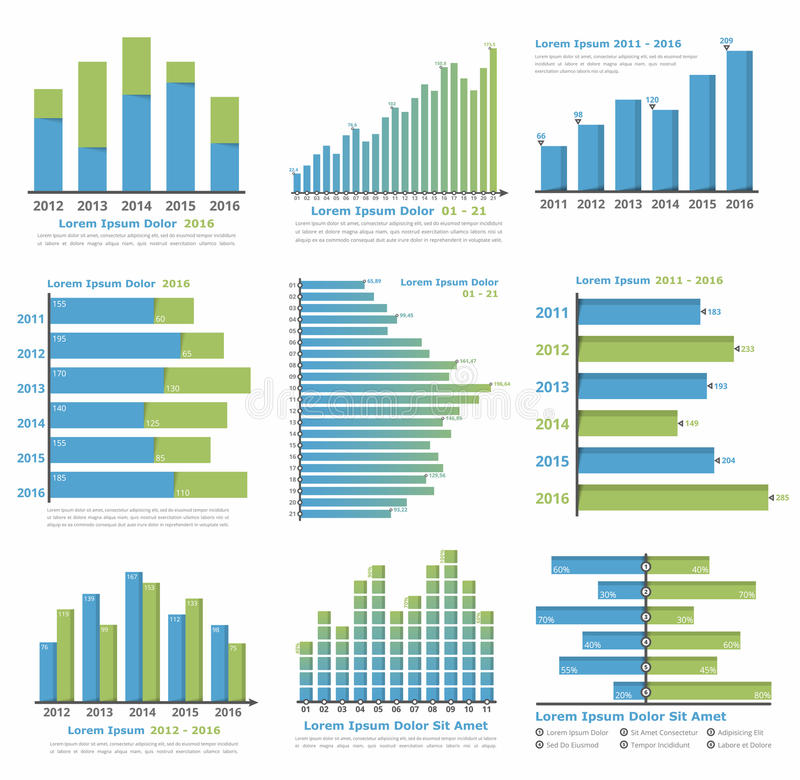 Graphs and Charts stock vector Illustration of background - 75120156