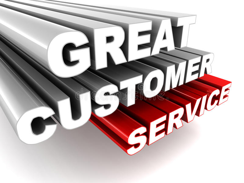 Great customer service stock illustration Illustration of well