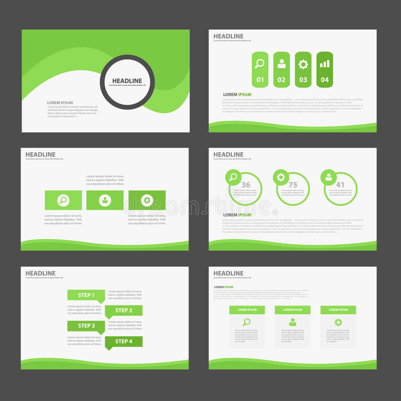 Green Abstract Brochure Report Flyer Magazine Presentation Element - marketing brochure