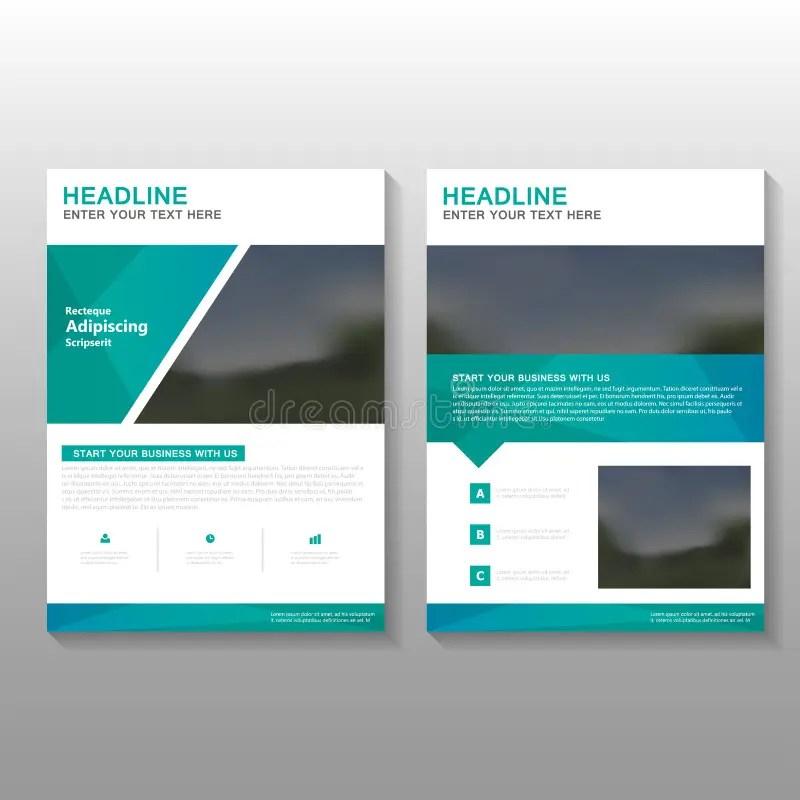 Green Elegance Vector Leaflet Brochure Flyer Business Proposal - design proposal
