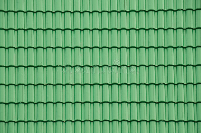 Graphic Stock Free Trial Green Tile Roof For Texture And Background Stock Image