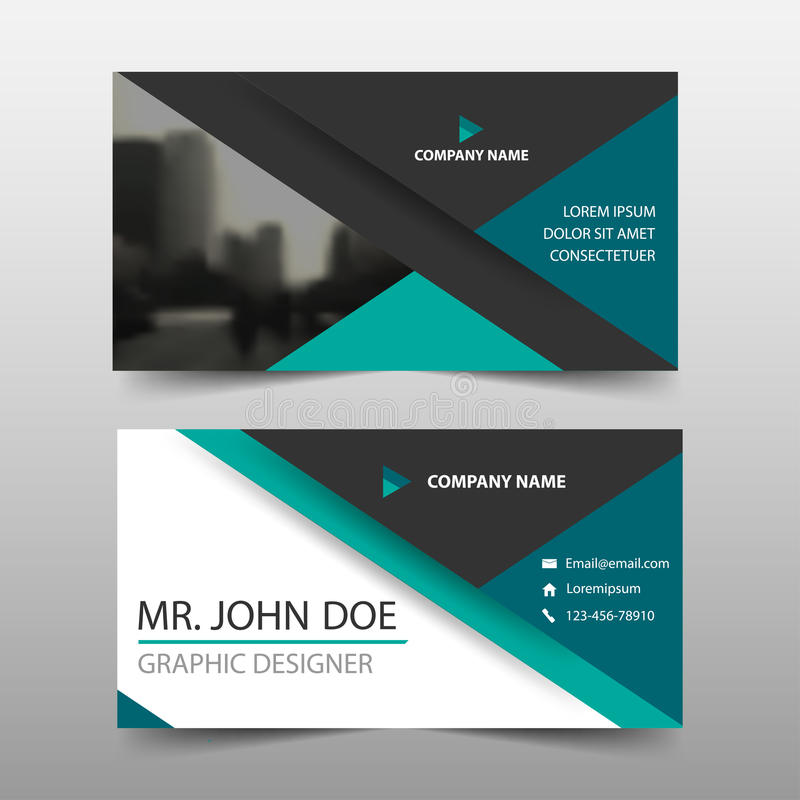 Green Triangle Corporate Business Card, Name Card Template