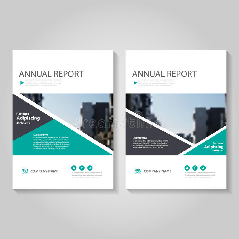 Green Vector Annual Report Leaflet Brochure Flyer Template Design - flyer layout templates