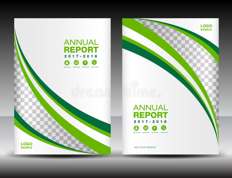 Green And White Cover Template, Cover Annual Report,cover Design