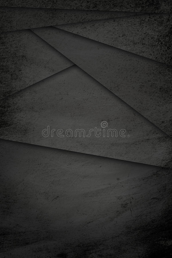 Grunge, Scratched Black Metal Texture Geometric Shapes Old Iron