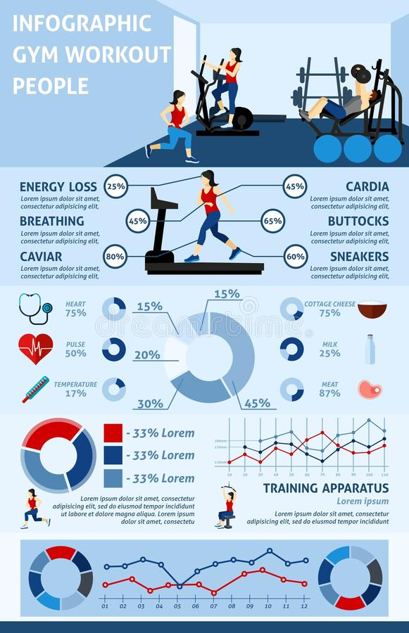 Gym Workout Infographics stock vector Illustration of chest - 64911353