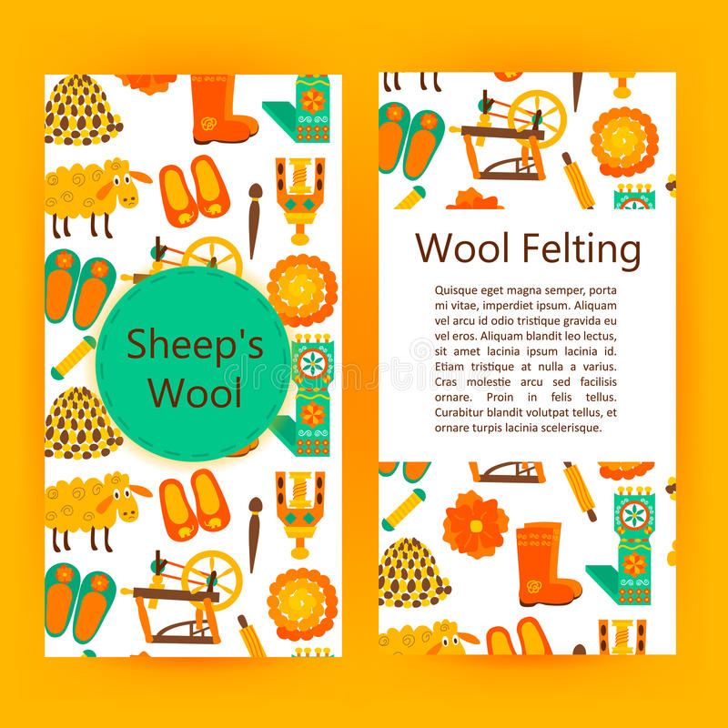 Handmade Wool Products Brochure Template Stock Vector - Illustration - Product Brochure Template