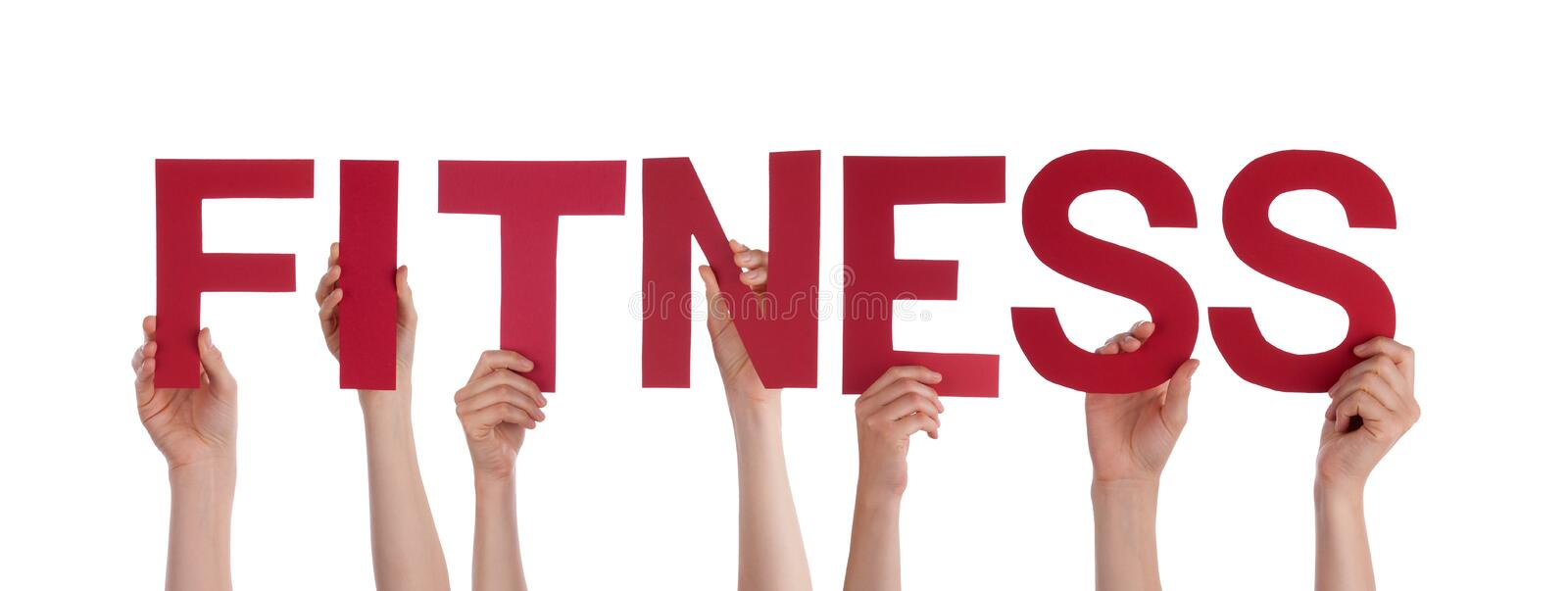 Hands Holding The Word Fitness Stock Photo - Image of healthfullness