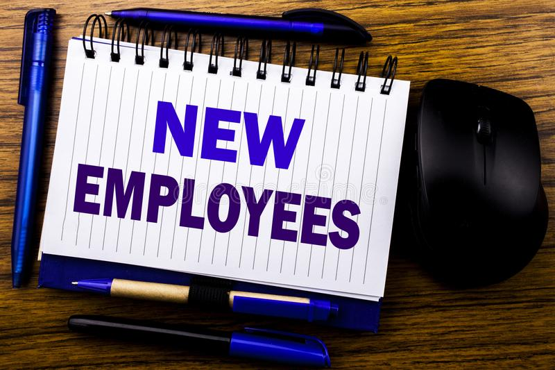 Handwritten Text Showing New Employees Business Concept For Welcome - welcoming messages for new employees