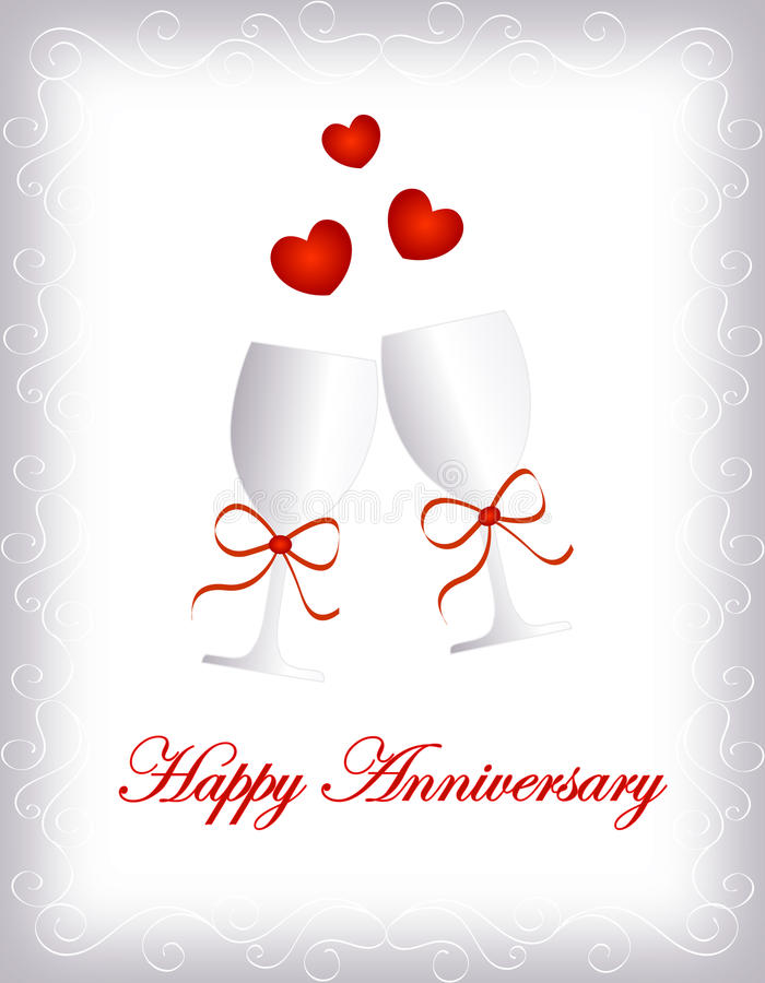 Happy anniversary stock illustration Illustration of champagne - free anniversary images