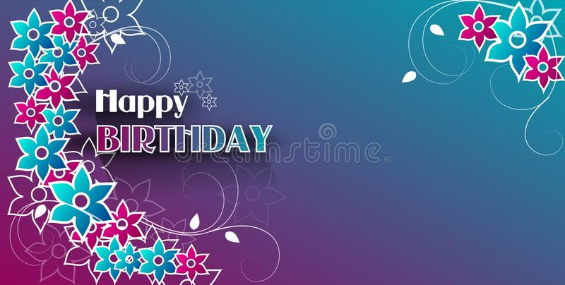 Happy Birthday background stock illustration Illustration of