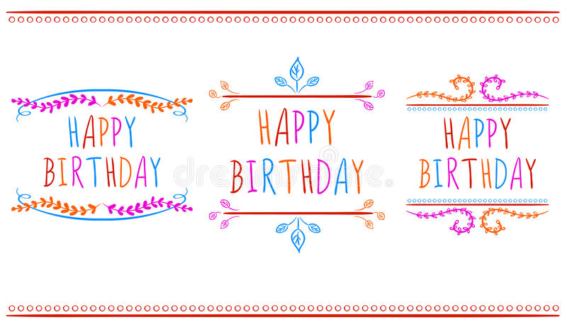 HAPPY BIRTHDAY Card Templates VECTOR Labels Multicolor Letters On - happy birthday cards templates