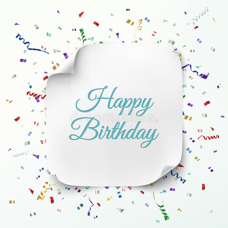 Happy Birthday Greeting Card Template Stock Vector - Illustration of