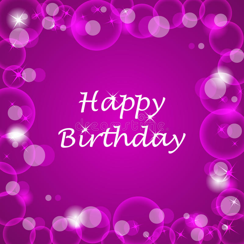 Bubble Wallpaper Hd Pink 3d Happy Birthday Illustration With Bubbless On The