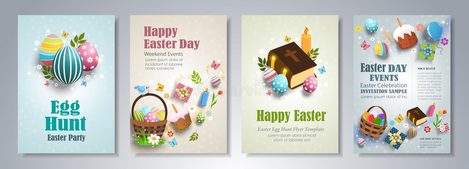 Happy Easter Flyer Template Stock Vector - Illustration of label - easter flyer template