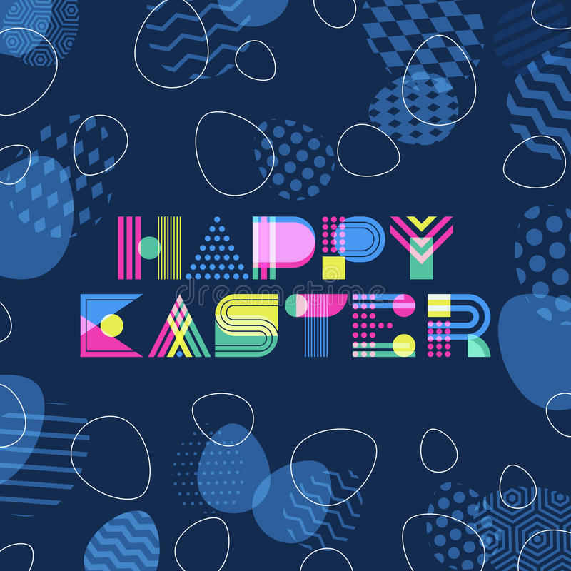 Happy Easter Greeting Card, Banner Or Poster Design Template - easter greeting card template