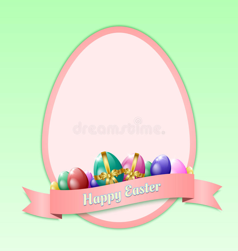 Happy Easter Greeting Card Template Stock Vector - Image 32616267 - easter greeting card template