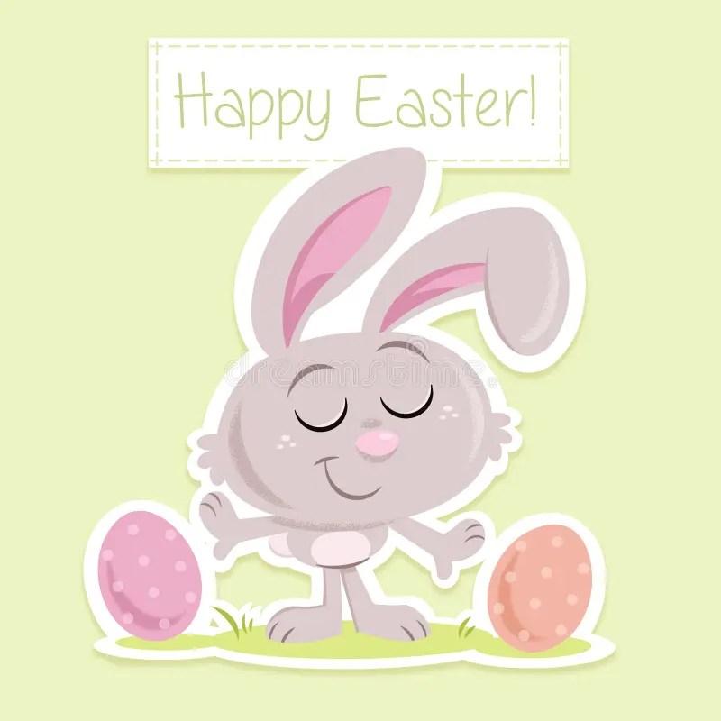 Happy Easter! - Sweet Little Easter Bunny - Greeting Card Template - easter greeting card template